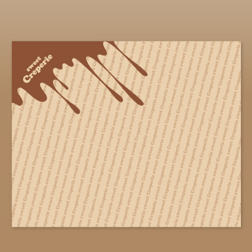 ラミクラフトクレープ包装紙チョコレート
