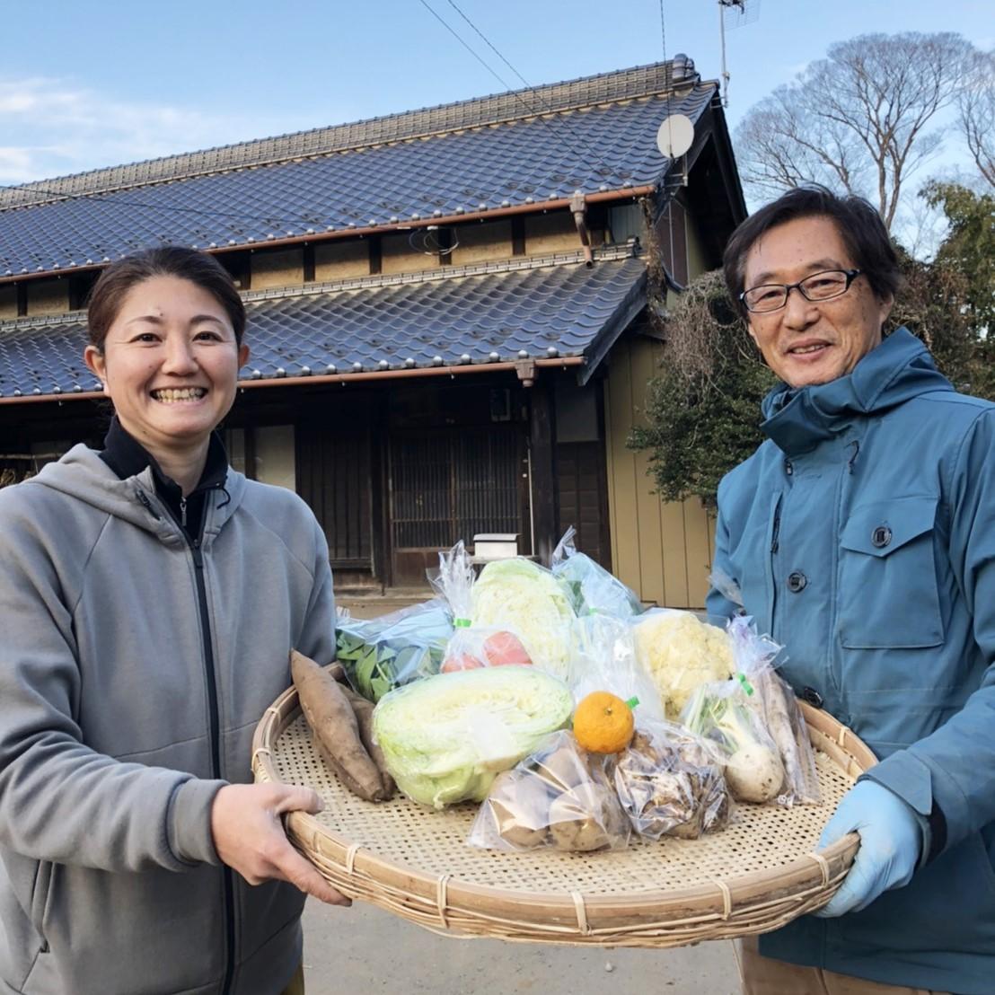 【無農薬・自然栽培】季節の産直野菜いろどりセット Mサイズ 8~10種類