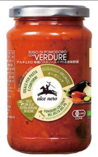 アルチェネロ 有機パスタソース(トマト&香味野菜)
