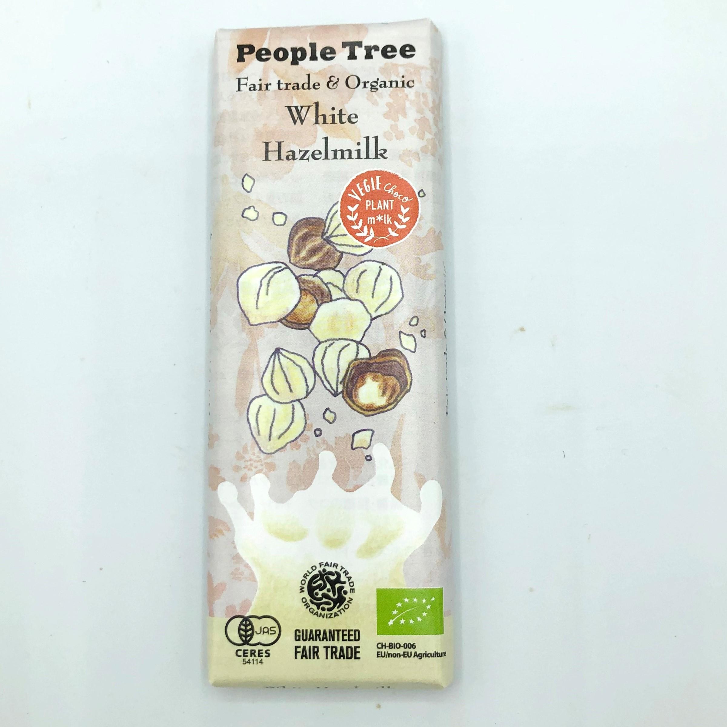 オーガニック ピープルツリーチョコレート ホワイト・ヘーゼルナッツ