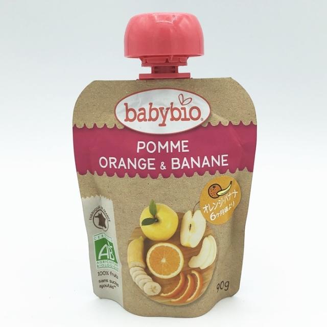 有機ベビースムージー オレンジバナナ