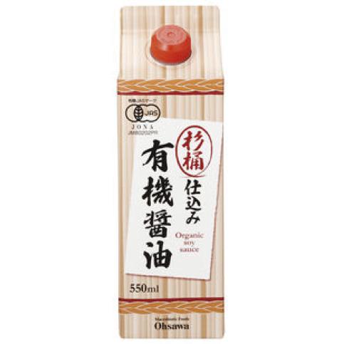 杉桶仕込み有機醤油(550ml)