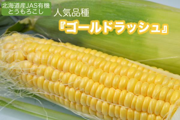 【予約】北海道産 JAS有機 とうもろこし 10本入り【産地直送・クール送料無料】