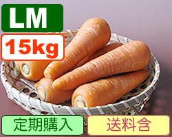 JAS有機にんじん LM15kg【定期購入(4回分)】