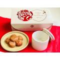 梅干と壺セット~りんご酢仕立て~(塩分約6%)■フルーティで甘酸っぱい梅干!