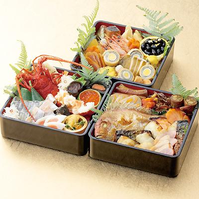 北新地「割烹 味菜」謹製 和風おせち 特選<三段>4〜5人前/祝い箸5膳付き