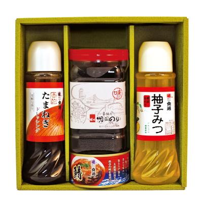 たまねぎドレ・柚子みつ・明石のり・鯖缶(ギフトセットG-23)