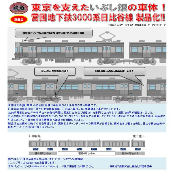 鉄コレ 営団地下鉄3000系(日比谷線・3037編成)