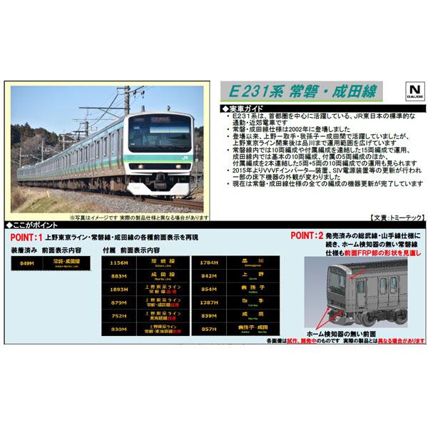 E231系0番代(常磐・成田線・更新車)5両基本/5両増結セット