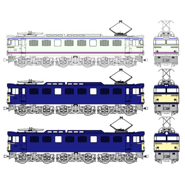TW-EF60-F10 (HO)国鉄EF60 第2次量産型(やすらぎ色/一般色ブタ鼻/一般色1灯)