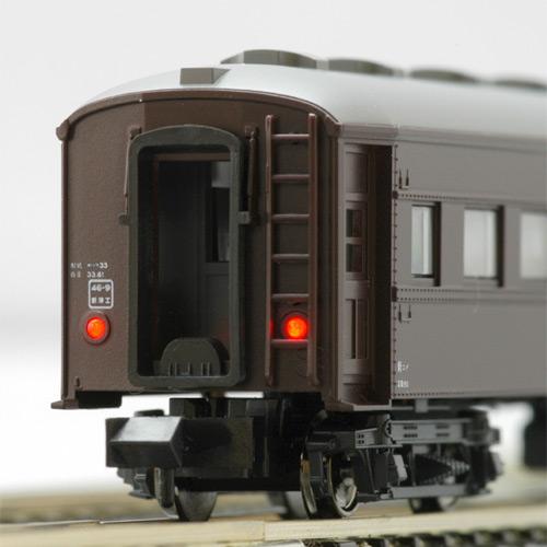 KATO 5128-1/5128-2 オハフ33(茶/ブルー)一般形