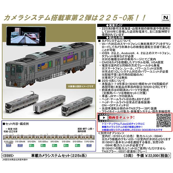 車載カメラシステム(225系0番台)