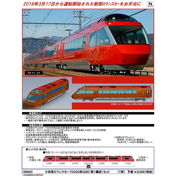 小田急ロマンスカー70000形GSE(第1編成)
