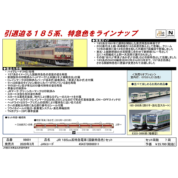 185系200番台(国鉄特急色)