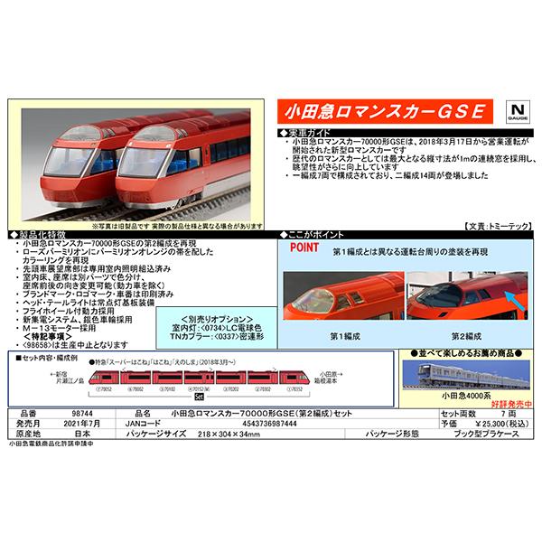 小田急ロマンスカー70000形GSE(第2編成)
