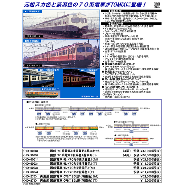 70系電車(横須賀色)