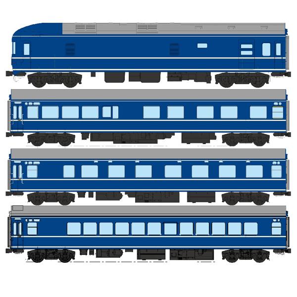 国鉄20系客車(床下黒色)各種