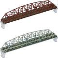 複線曲弦大トラス鉄橋