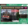 東急電鉄8500系(8615編成・黄色テープ付き)