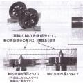 スポーク車輪(車軸短)