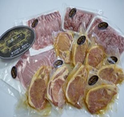 【藤沢産】 湘南ポーク オリーブ プレミアム ローススライスと挽肉、味噌漬けセット