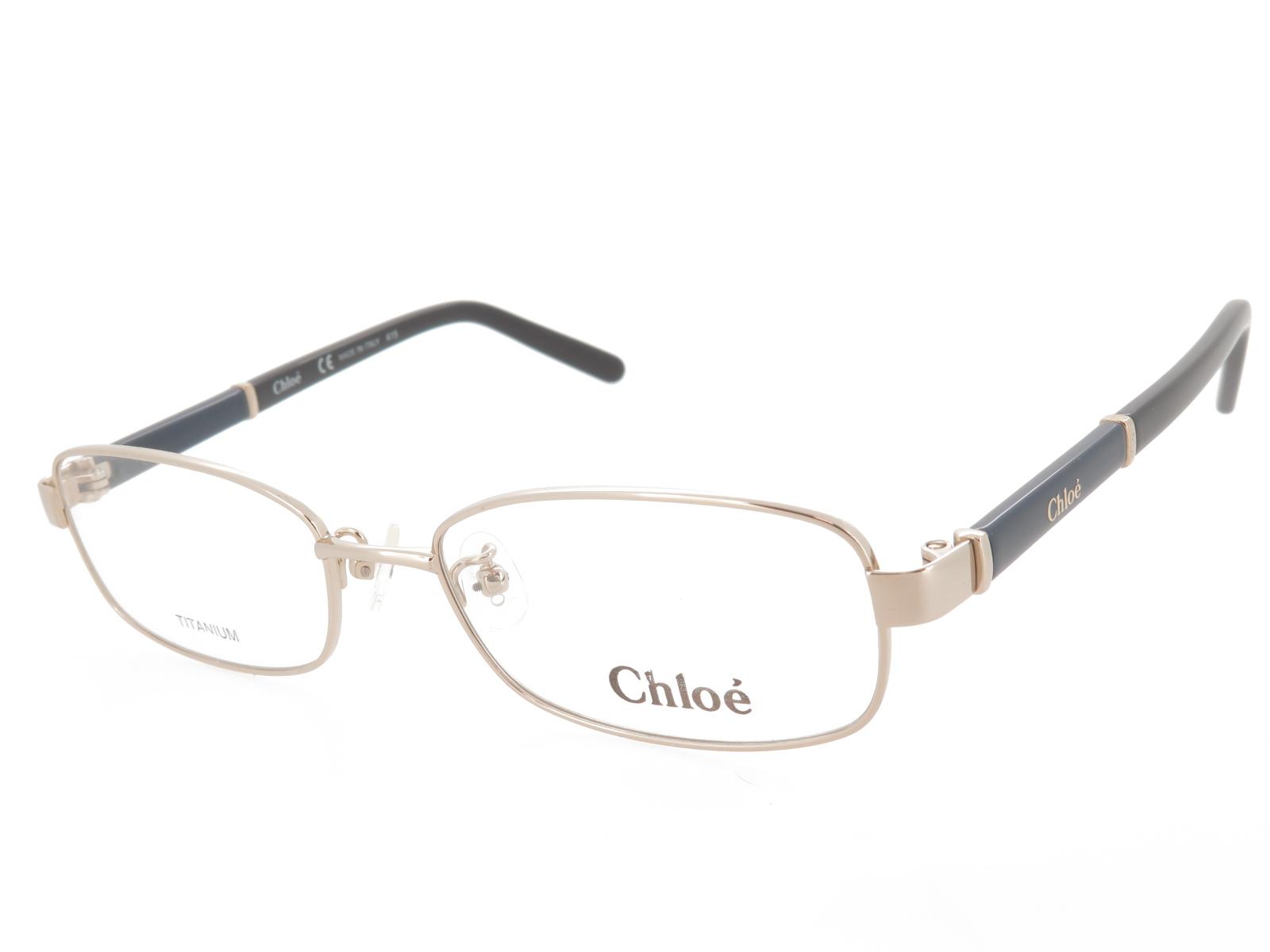 レディース メガネフレーム Chloe クロエ フルリム メタル CE2500A 727