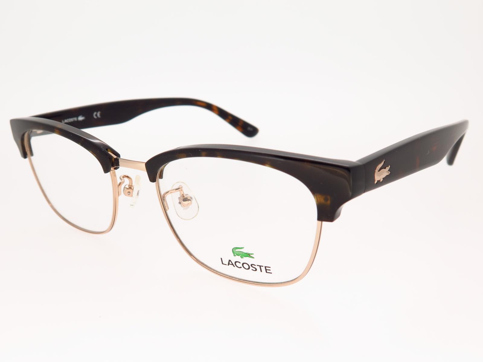 LACOSTE ラコステ ブランド メガネ アジアンフィット スクエア型 ブローメタル L2208A 714 51サイズ
