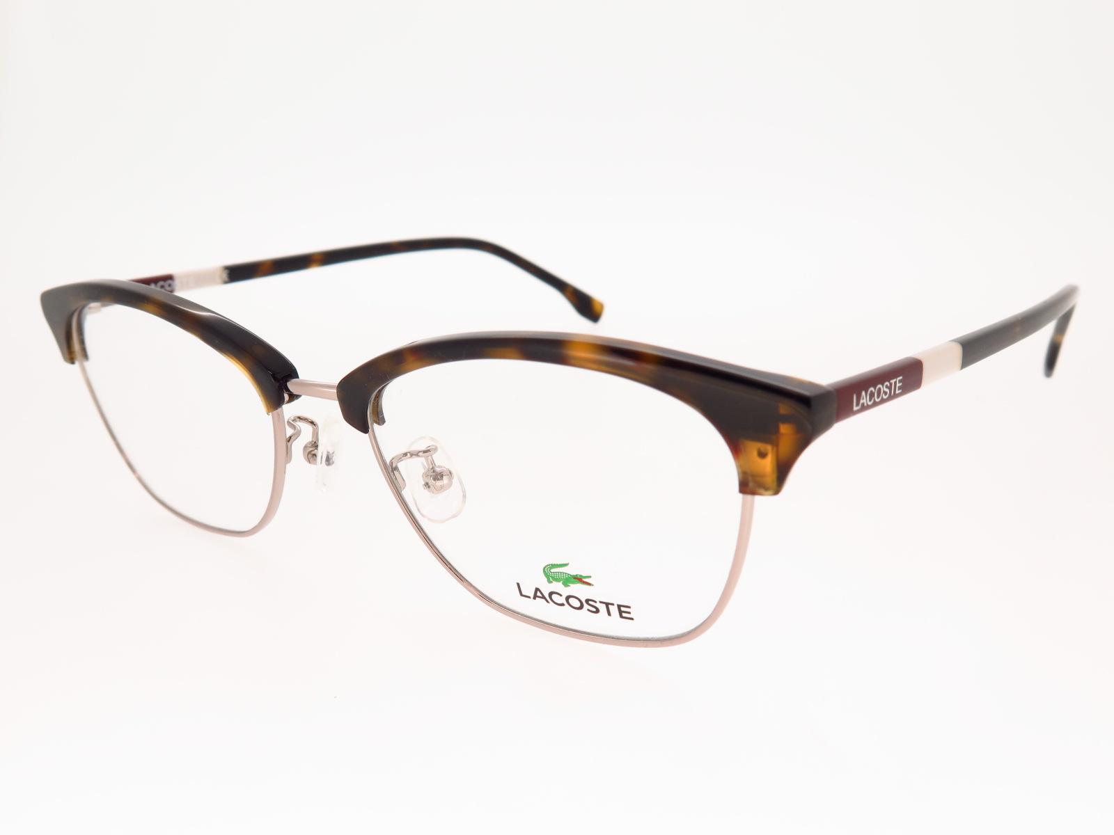 LACOSTE ラコステ ブランド メガネ アジアンフィット スクエア型 ブローメタル L2257A 215 52サイズ