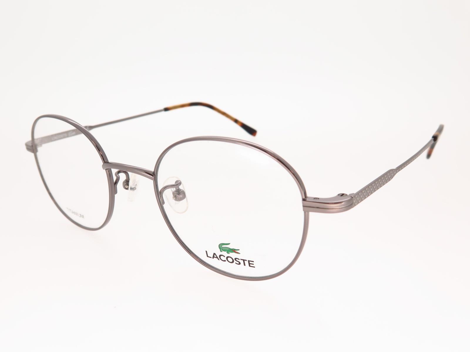 LACOSTE ラコステ ブランド メガネ アジアンフィット ボストン型 メタルフレーム L2258A 033 48サイズ