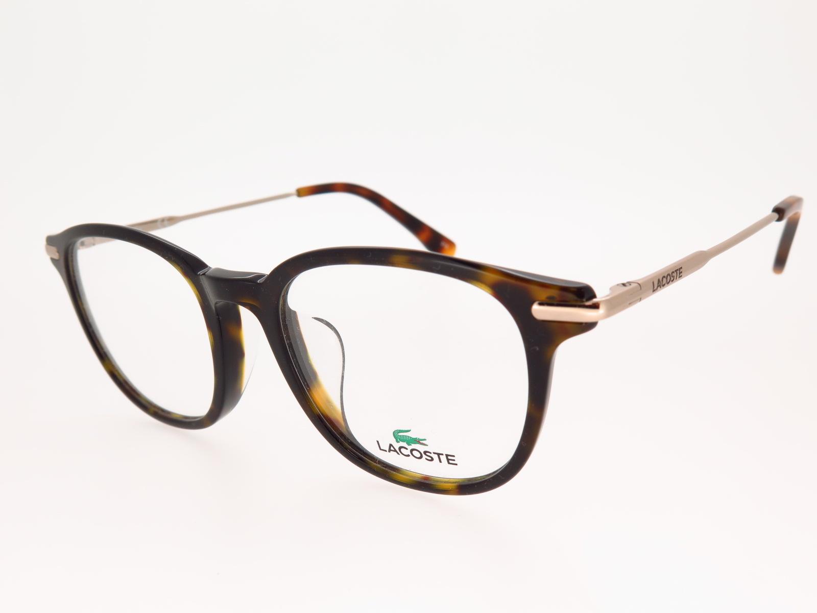 LACOSTE ラコステ ブランド メガネ アジアンフィット スクエア型 セルフレーム L2835A 214 50サイズ