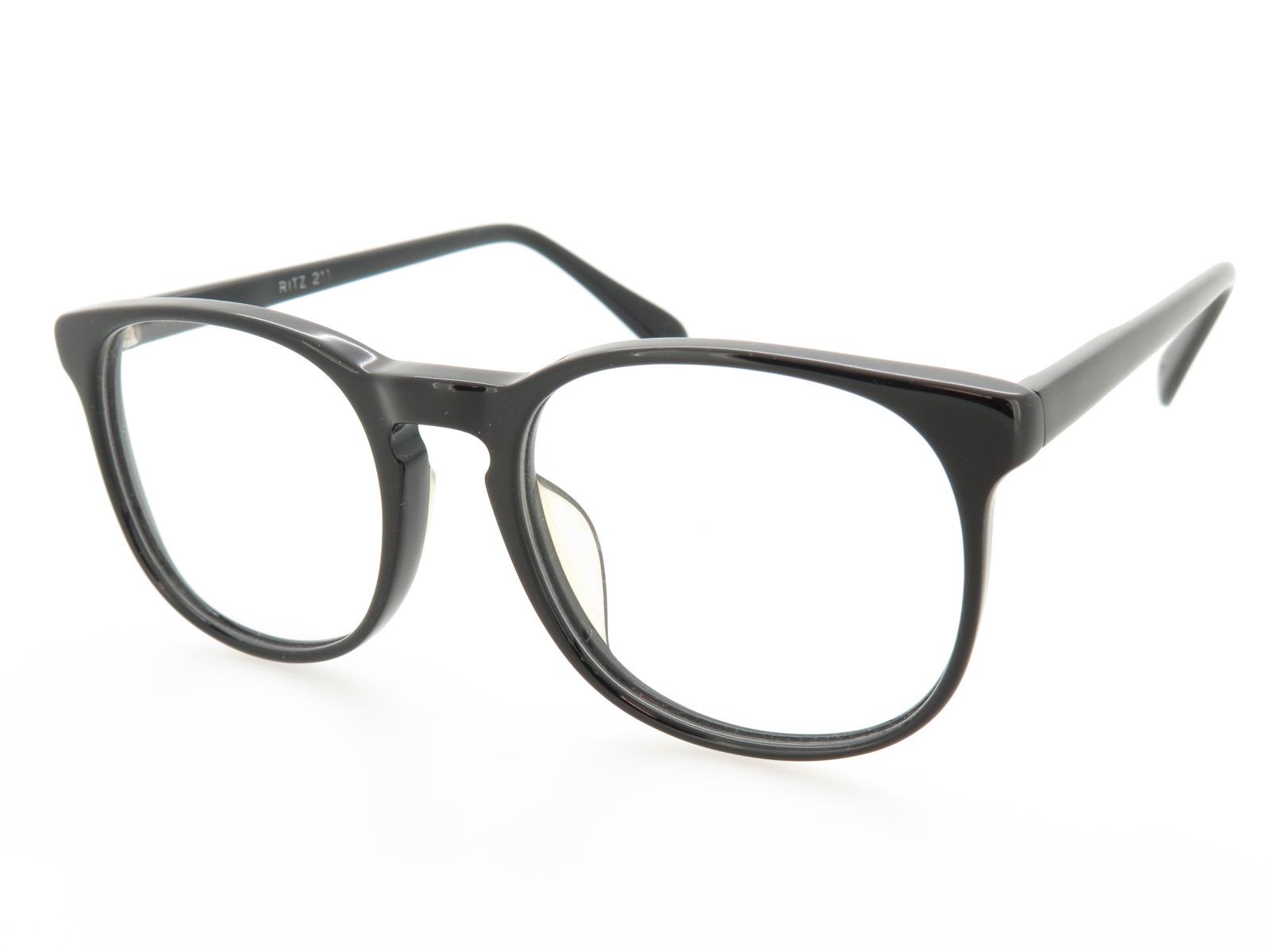 超薄型レンズ付セット スクエア型 クラシック セルフレーム RITZ211 ブラック