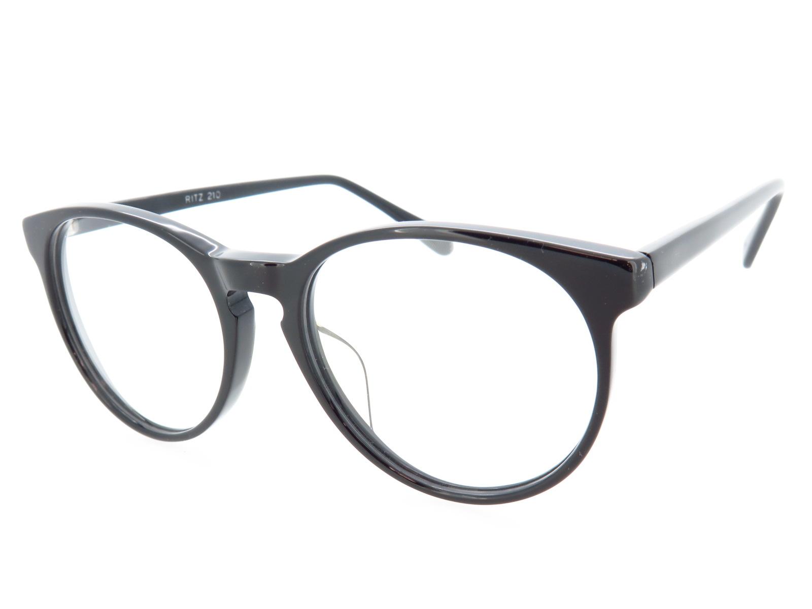 超薄型レンズ付セット ボストン型 クラシック セルフレーム RITZ210 ブラック