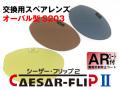 交換用スペアレンズ CAESAR-FLIP2 前掛け 偏光サングラス オーバル型 S203 ARコート付(裏面反射防止)