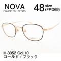 NOVA ノバ クラシック メガネフレーム スクエア H3052 Col.10