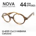 NOVA ノバ クラシック メガネフレーム セルロイド ラウンド 丸型 H4020 Col.3 HABANA
