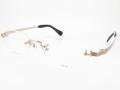 金無垢 K14WG ホワイトゴールド メンズ リムレス 縁なし LK341W