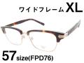 Manhattan Design Studio 大きいサイズ ウェリントン ブロー メガネ MDS110 Col.2 57サイズ