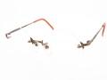 ウシジマくん風 丸型 縁なし 伊達メガネ ブルーライトカット トラサルディ TR1144 アンティークゴールド