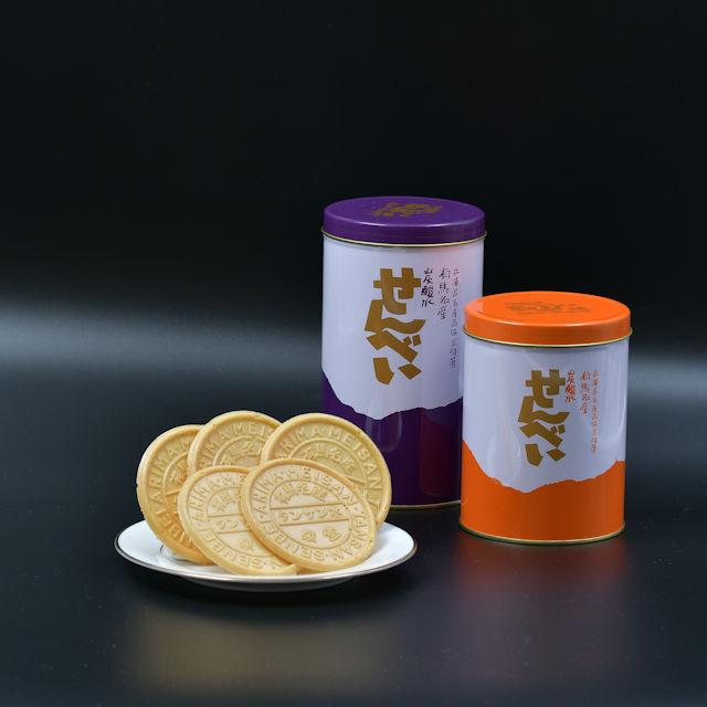 (泉堂)炭酸水せんべい丸缶
