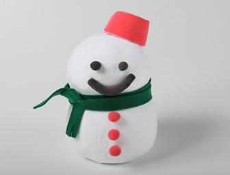粘土で作る雪だるま貯金箱 サンプル2個セット