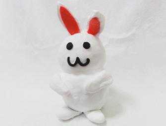 粘土で作るウサギ貯金箱 サンプル2個セット