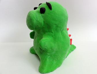 粘土で作る恐竜貯金箱 サンプル2個セット