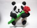 粘土で作るカーネーションパンダ貯金箱 100個セット