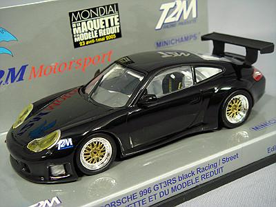 ・【ワゴンセール】 【T2M特注】 ミニチャンプス 1/43 ポルシェ 911 GT3-RS ブラック パリサロン