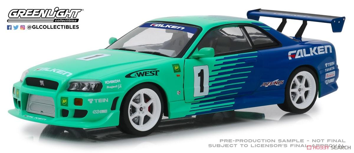 ・グリーンライト 1/18 1999 日産 スカイライン GT-R (R34) ファルケン #1
