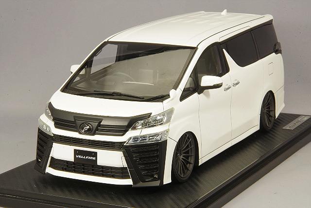 【予約品】 イグニッションモデル 1/18 トヨタ ヴェルファイア (30) ZG ホワイト/RS05RRタイプ19インチ(ガンメタリック)
