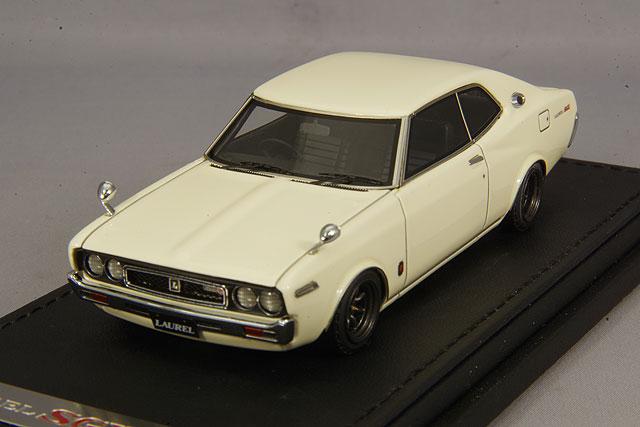 【予約品】 イグニッションモデル 1/43 日産 ローレル 2000SGX C130 ホワイト RSワタナベ14インチホイール(ガンメタリック)