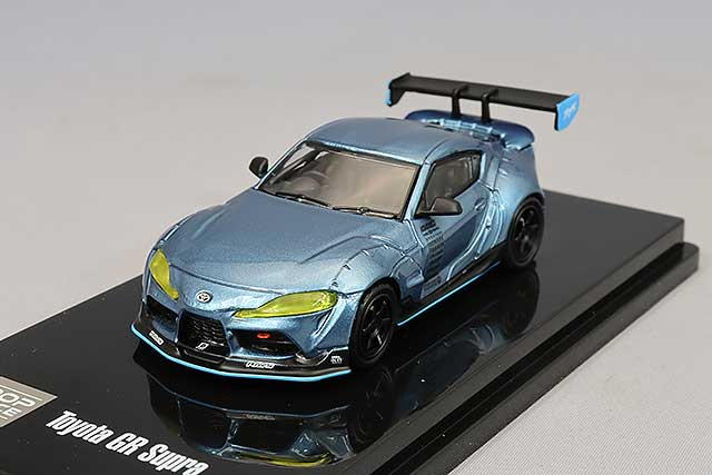【予約品】 POP RACE 1/64 パンデム GR スープラ メタリックブルー