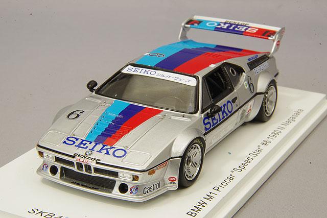 【予約品】 【キッドボックス特注】 スパーク 1/43 1/43 BMW M1 プロカー スピードスター #6 1980 長坂尚樹