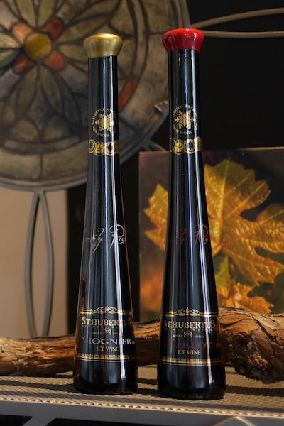 【超地産地消ワイン】     <極上スイーツワイン> カナダ産・赤と白のアイスワイン2本セット